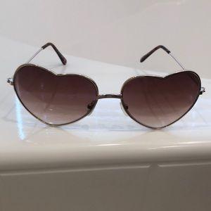 Heart shapes sunglasses